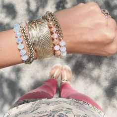Perfect for any free spirit, you can style this convertible piece atop a bun, or let your hair loose + wear it as a bracelet!