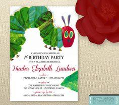 DIY Very Hungry Caterpillar Themed Birthday Invites