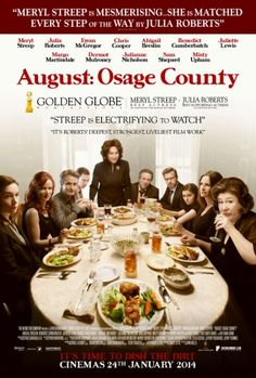 August: Osage County: I really enjoyed this film. Although most of the action takes place in the Weston Household, you're gripped by the dysfunctional family-led storyline. Fantastic performances from Meryl Streep and Julia Roberts with great support from the rest of the cast. Unexpectedly humorous too! Watch Count: 1
