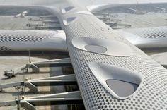 China inauguró un aeropuerto futurista