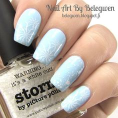 Gina Tricot Candy Mint and Picture Polish Storm