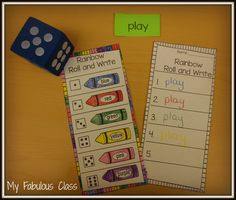 Freebie - sight word rainbow roll and write kinderkid ideas английский. Kindergarten Language Arts, Kindergarten Literacy, Preschool, Kindergarten Colors, Sight Word Practice, Sight Words, Sight Word Activities, Reading Activities, Writing