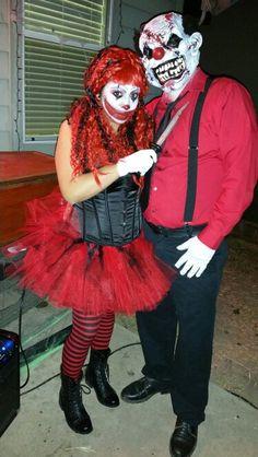 Creepy #Clown #halloween #diy #costume #makeup