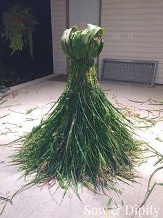 Harvest Goddess- Made from grasses and cornstalks, amazing garden art that celebrates the harvest!