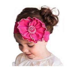 Girls, heqdband, Girls Hot Pink Elastic Bowknot Headband