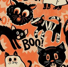 The Spooktacular collection features a traditional Halloween color scheme of oranges, blacks, and creams with fun, illustrative prints that will add a whimsical feel to your fall project. Designed by