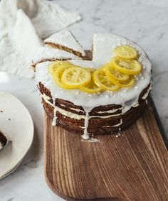 Lemony Zucchini Cake with Earl Grey Buttercream | Recipe from Top with Cinnamon