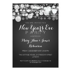 deals new years eve party modern dots black 5x7 paper invitation card you will get best
