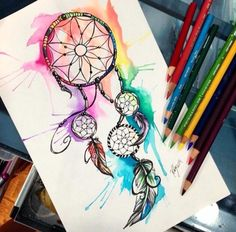Colourful dream catcher
