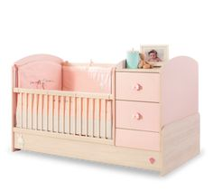 Cilek Baby Girl Kombi Kiságy (75×160 Cm) 20.42.1016.00 Cribs, Toddler Bed, Baby, Furniture, Home Decor, Cots, Child Bed, Decoration Home, Bassinet