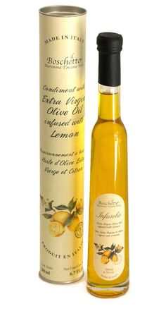 Pretty Lemon Infused oil bottle and packaging from Il Boschetto