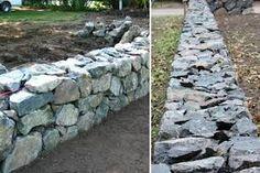 """Résultat de recherche d'images pour """"dry stack stone retaining wall"""""""