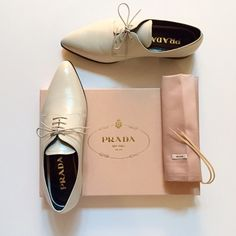 "⬇ 50% | HP PM Editor Insta Feature Prada Oxfords  C'mon Get Preppy! PM Editor Feature on Instagram on 4/27, 6x ""Girly Girl"" on 1/20, ""Minimalist Chic""on 1/18, ""Casual Friday"" on 5/15, ""Life Changing Fashion"" on 5/7, ""Totally Pin-able"" on 5/1 and ""Work Week Chic"" on 4/22. These beautiful Talco Saffiano Oxfords can be paired with a dress, skirt, trousers, your favorite jeans or shorts year round :) Sz 38 EUR 