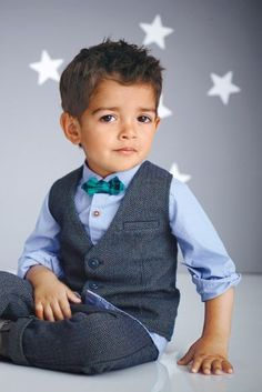 Will's wedding outfit.  Buy Blue Shirt, Waistcoat And Bow Tie Set (3mths-6yrs) online today at Next: Australia