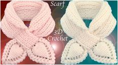 Crochet 3D Leaves Scarf Elastic Stitch