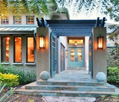 Great entrance to a custom home.  See more custom home ideas at http://arhomes.us/modelhomes