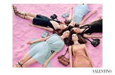 visual optimism; fashion editorials, shows, campaigns & more!: vanessa, hedvig, maartje, grace and clementine by michal pudelka for valentino spring / summer 2015