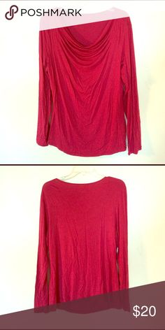Red modal top Long sleeve, soft modal material, red.   M Tops Tees - Long Sleeve