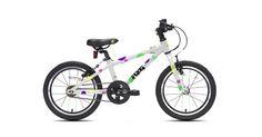 Frogon laadukas Englannissa koottu lasten ja nuorten polkupyörä. Frog 48on sopiva lapselle jonka jalan sisämitta on vähintään 48 cm (karkeasti 4-5vuotta), erinomainen ns. ensipyöräksi Pyörässä on 16