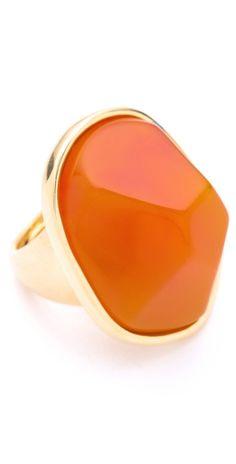 Kenneth Jay Lane Amber Nugget Ring