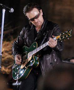 Bono and his green guitar