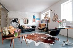 """Le loft d'Emily Chalmers à Londres """"bohème vintage"""" via Marie-Claire Maison"""