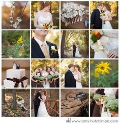 Nature provides the perfect backdrop for this deep fall wedding. Memphis Lichterman Nature Center Wedding by Amy Hutchinson Photography @ www.amy-hutchinso... Photography: Amy Hutchinson Photography // Venue: Lichterman Nature Center // Memphis, TN