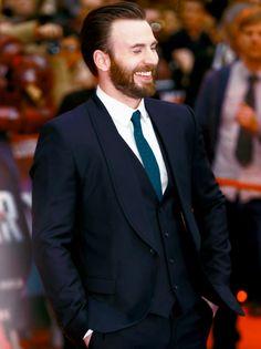 Chris Evans attend the UK film premiere 'Captain America: Civil War' at Vue Westfield on April 26, 2016 in London, England.
