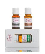 It is important to protect yourself and your family and improve your immune  system. The Immune Booster Package includes essential oils that can sanitize  your home, and help with common symptoms.     Immune Booster Package #3 Includes:     1 - Shield Essential Oil (Protective Blend) 10mL  1 - Eucalyptus Essential Oil 10mL  1 - Oregano Essential Oil 10mL    (Retail Price $74.00)