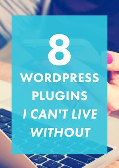 Want a professional, fast, and unique site? These 8 Wordpress plugins are designed to do exactly that. Check out why we love 'em and why you NEED them! Melyssa Griffin, Blog Tips, Business Tips, Web Design, Blog Design, Blog Starten, Content Marketing, Internet Marketing, Online Marketing