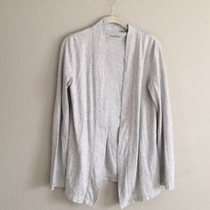 Caslon cardigan Gray, tee shirt material. Flowy at the bottom! Caslon Tops