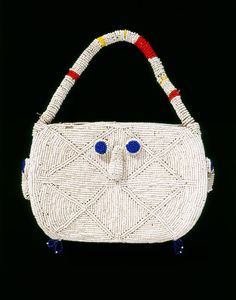 Africa | Bamileke people, Cameroon | Beaded Bag