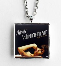 Amy Winehouse - Back to Black - Album Cover Art Pendant Necklace