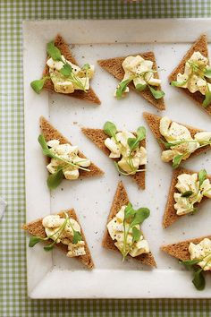 Easter Appetizers: Smoked Egg Salad Toasts