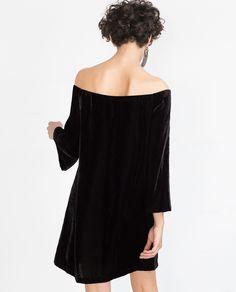 SHORT VELVET DRESS - Mini - Dresses - WOMAN | ZARA United States