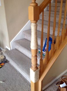 After our cat tree become ugly, smelly and gross we salvage the rope from the post before we threw it out. I have also done this on the landing banister.