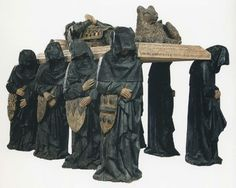 Tomb of Philippe Pot, Seneschal of Burgundy (c. 1480)  From the abbey church of Citeaux  Paris, Musée du Louvre  Plazy, History of Art in Pictures, p. 90