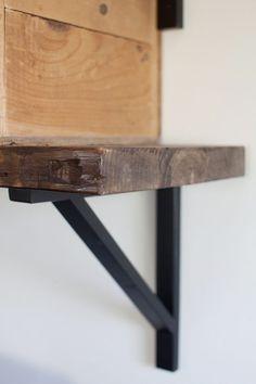 "Ikea Shelf Brackets & 2""x12"" for bathroom | Farmhouse Cottage Decorating | Home Office"