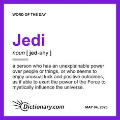 Word of the Day - Jedi Vocabulary Building, Vocabulary Words, More Words, New Words, Word Of The Day, Quote Of The Day, English Spelling, Fun Quizzes, Writing Words