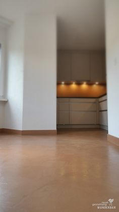 for chocoholics #toffee colored #bodenbelag | coating in a #zurich #kitchen by #lebewunderbar