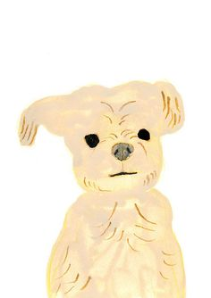 Eep! Another  dog portrait by Itsuko Suzuki. This looks like Buck :)