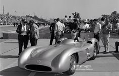 Mercedes Benz W196 Streamliner on display at Indy in 1965 (Getty)...