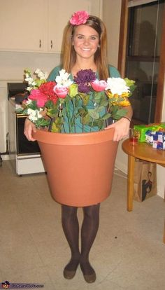 "I suppose you could nix the flowers and go dressed up as ""pot"" for Halloween. Get more info here."