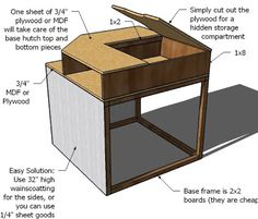 DIY Projects Corner Hutch Plans for the Twin Storage Beds Woodworking Plans by Ana White Corner Twin Beds, Bed In Corner, Ana White, Boy Room, Kids Room, Corner Headboard, Twin Storage Bed, Corner Storage, Bedroom Storage