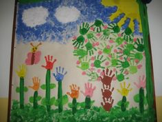 painel feito com a ajuda dos alunos                              … Tree Crafts, Diy And Crafts, Arts And Crafts, Activities For 2 Year Olds, Kids Library, Kids Education, Kindergarten, Diagram, Classroom