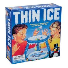 Thin ice! My creative Sister made up one of her own versions of this game for me. Great entertainment while being babysat!