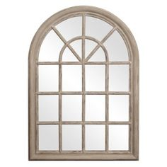Howard Elliott Collection 56017 Fenetre Windowpane Style Mirror, 29-Inch by 41-Inch, Distressed Taupe  Lacquer $300
