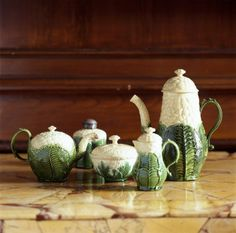 A set of cauliflower ceramics give a flavour of Frank's quirky tastes.