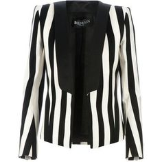 Balmain Balmain Open Striped Blazer - loving black & white stripes.