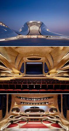 À l'allure futuriste à la fois épurée et sinueuse, l'Opéra d'Harbin rassemble en…